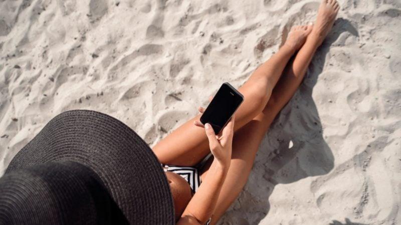 sand beach phone