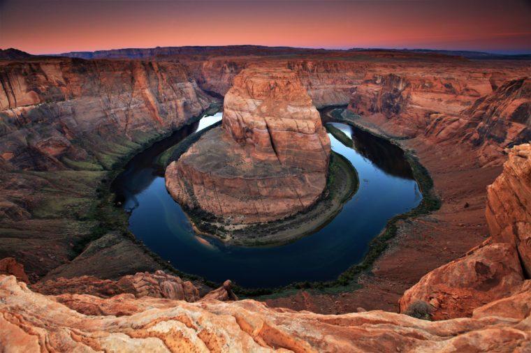 Horseshoe Bend, Colorado River. Grand Canyon, Page, Arizona. Sunrise,usa.