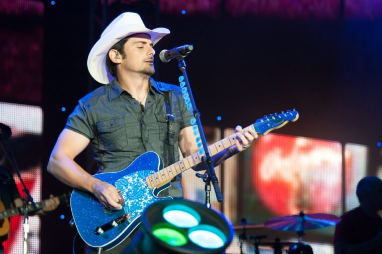 Brad Paisley performs in The Escape Virtual Reality World Tour at Sleep Train Amphitheater in Wheatland,