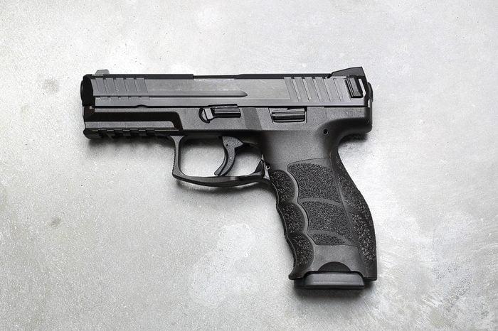 gun gray background
