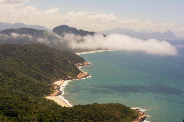 view of the wild beaches of the Pedra do Telegrafo, Rio de Janeiro, Brazil