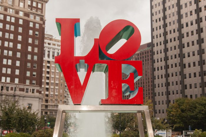Love Park is a plaza located in Center City, Philadelphia, Pennsylvania.