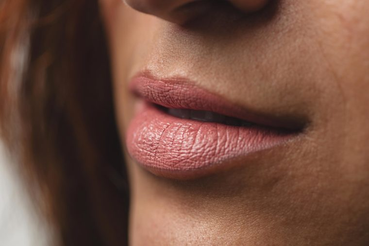close up of a woman's fresh lips