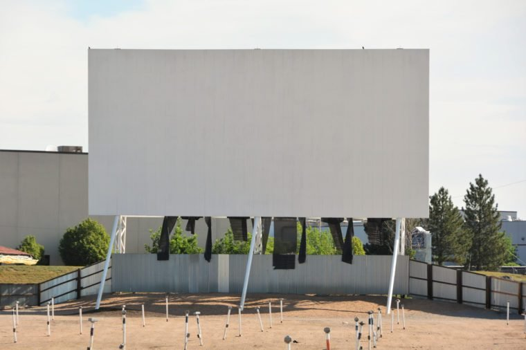Old 88th drive in theater that is still open on weekends in Commerce City, CO.