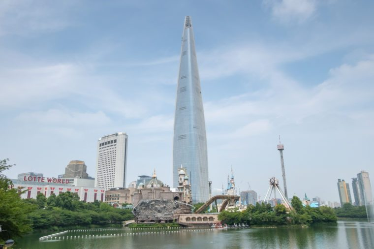 Lotte tower in Seoul