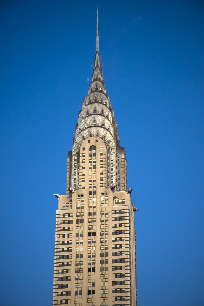 Chrysler building skyscraper in Manhattan New York City