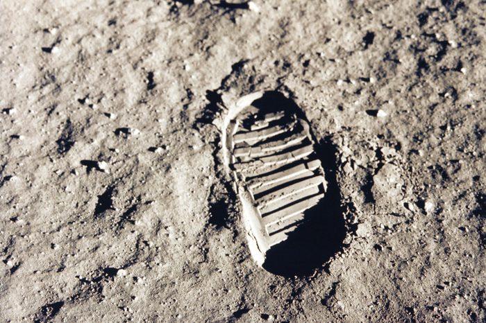 moon shoe print