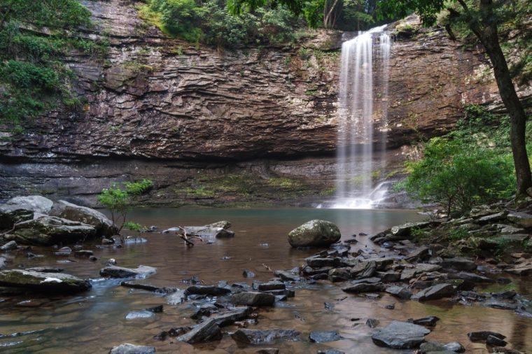Cherokee Falls on Daniel Creek at Cloudland Canyon State Park in Georgia.