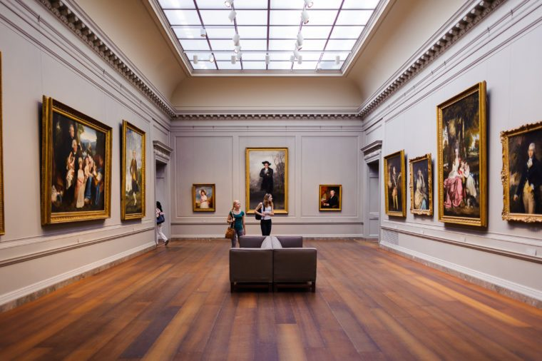 Interior of the National Gallery of Art,