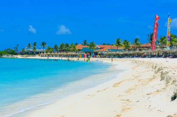 Cancun Beach resort area, beach shote by Club Med