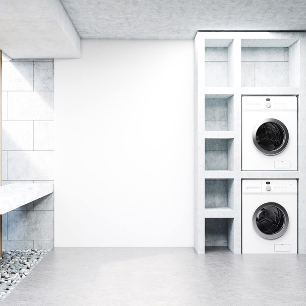 shutterstock_670453921 laundry room washer and dryer