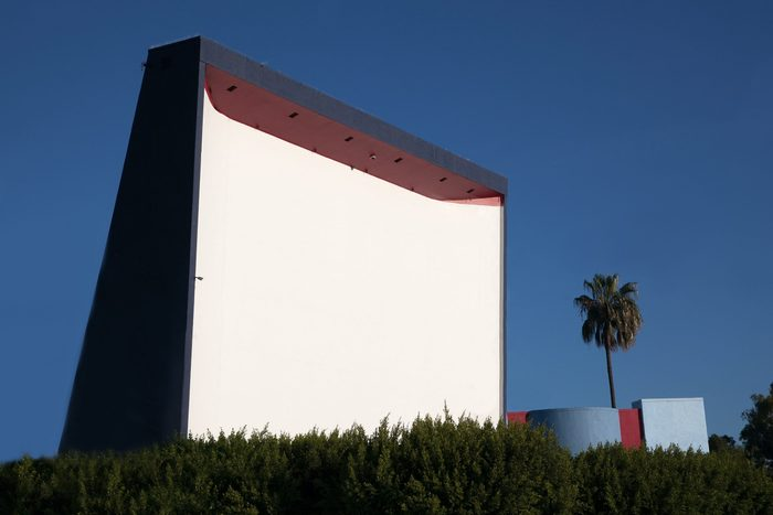 old drive in movie theater in southern CA