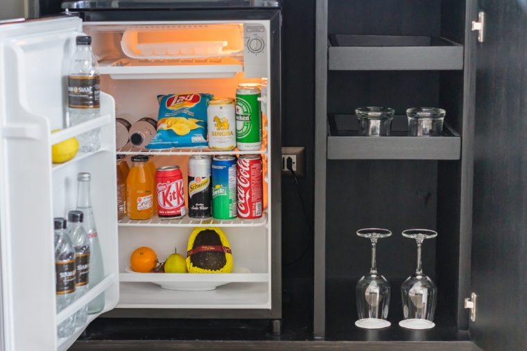 hotel mini bar fridge,