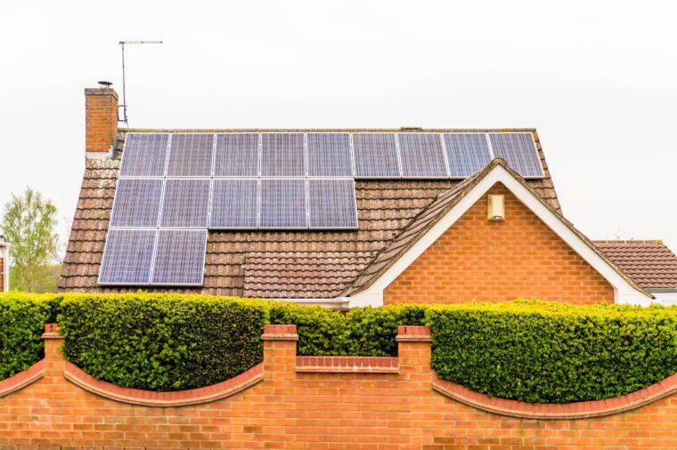 UK Solar Energy Panel on house Roof in northampton uk