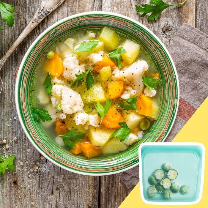 fresh soup starter vegetables