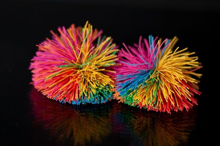 sport with the beautiful colorful koosh ball