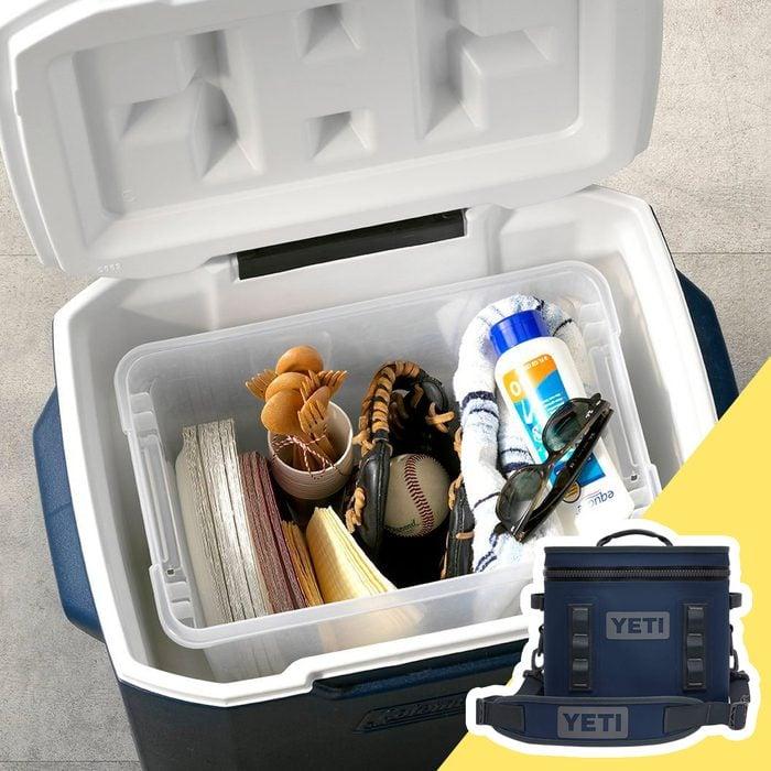 storage in yeti cooler