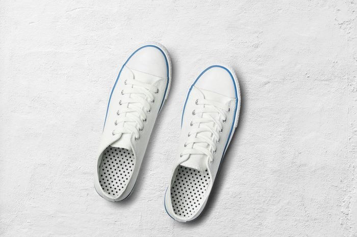 blue Sneakers shoes on isolated background