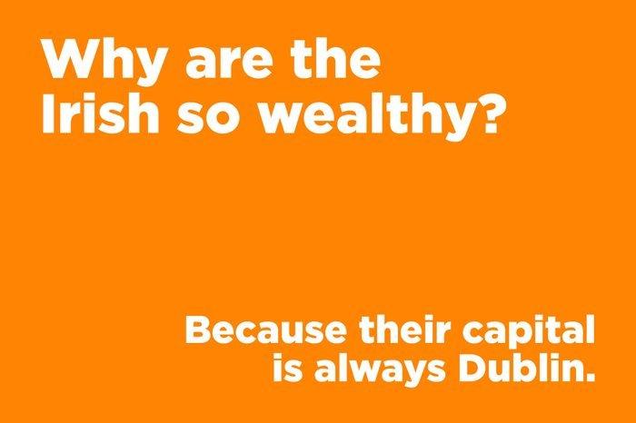 corny joke irish wealthy
