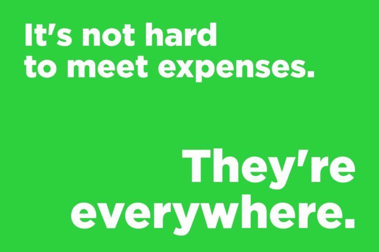 corny joke meet expenses