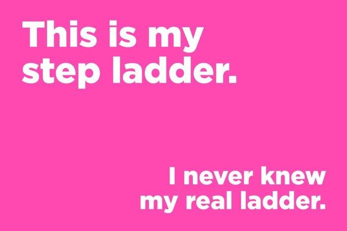 corny joke step ladder