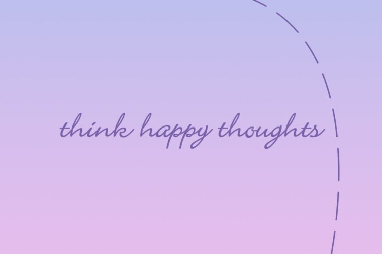 think happy thoughts iphone wallpaper