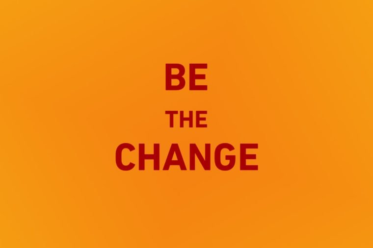 be the change iphone wallpaper