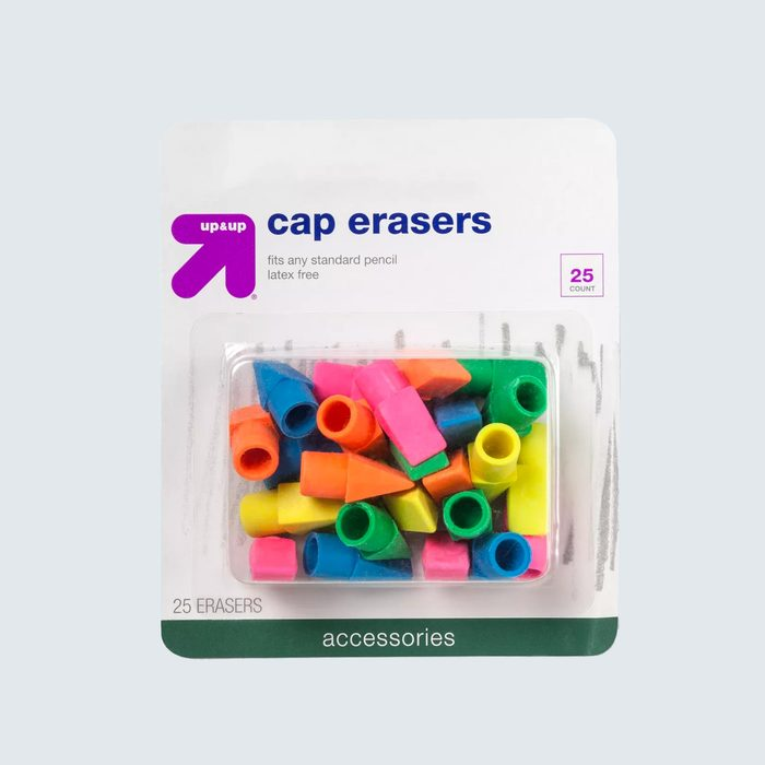 A rainbow of affordable erasers