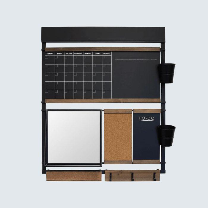 A flexible wall organizer
