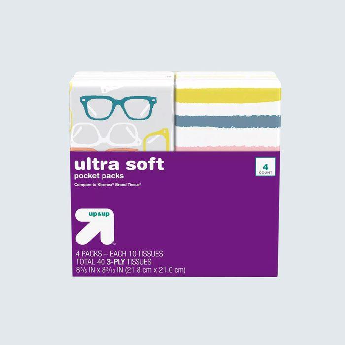 Travel-size tissue packs for 99¢