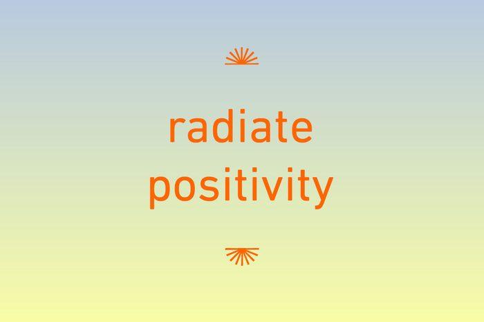 radiate positivity iphone wallpaper
