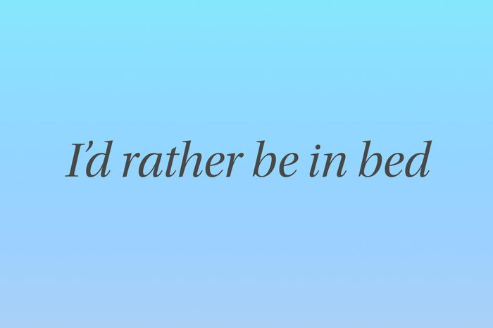 Id rather be in bed iphone wallpaper