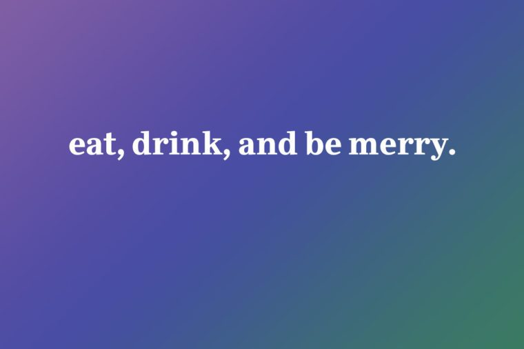 eat drink and be merry iphone wallpaper