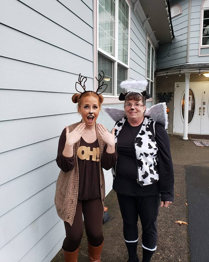 Oh deer and a holy cow halloween costume