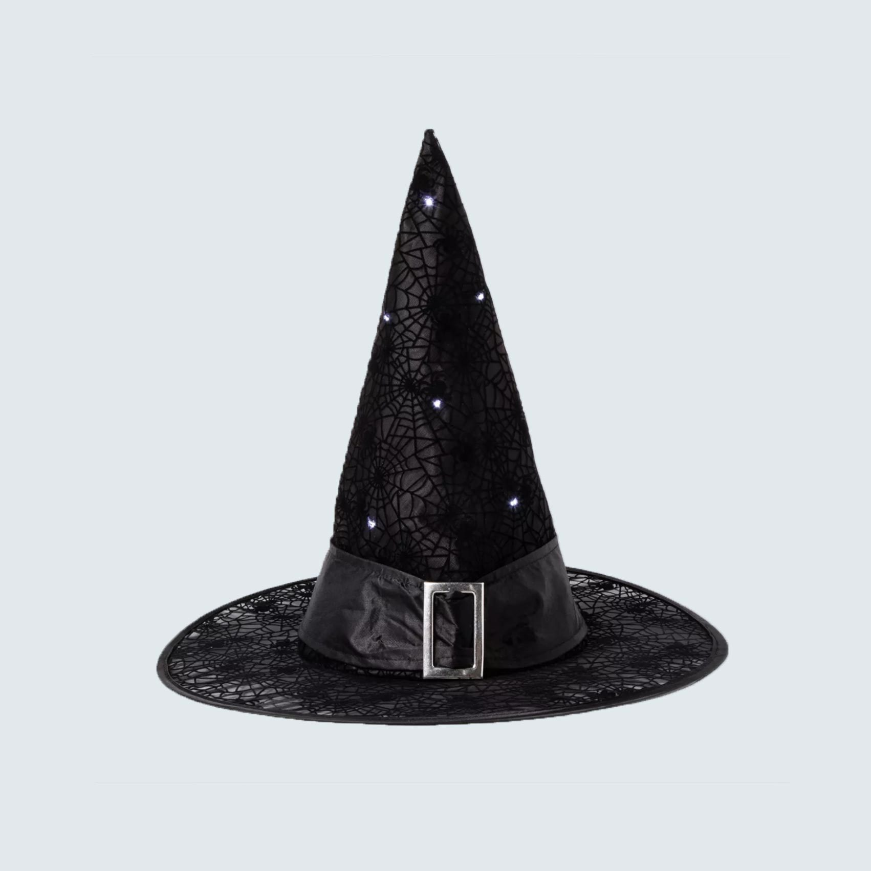 Witch's hat with blinking lights