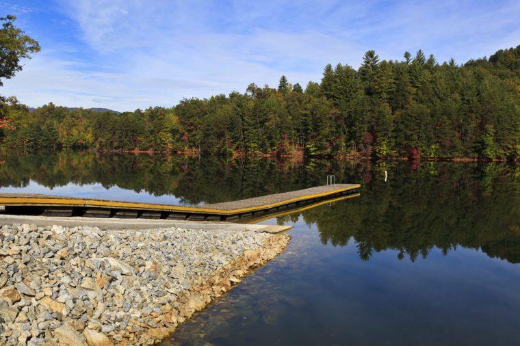 Boat ramp at Lake Santeetlah