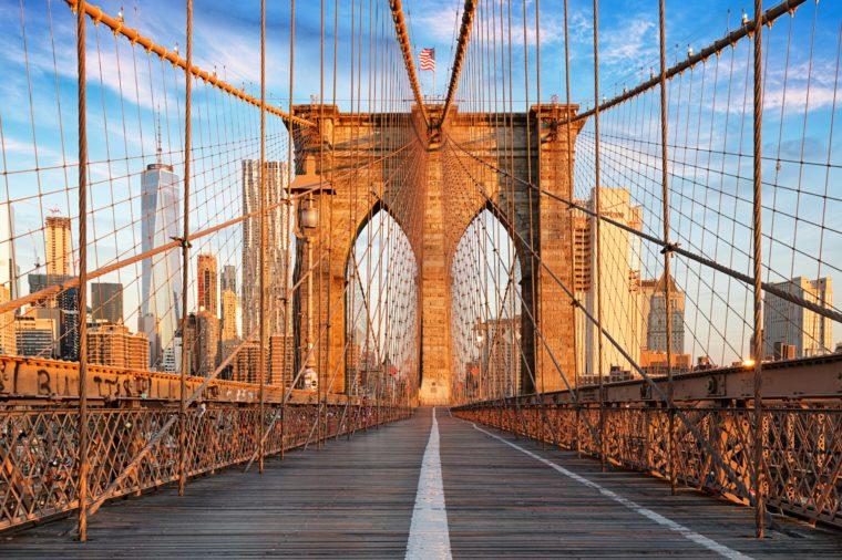 Brooklyn Bridge, New York City, nobody
