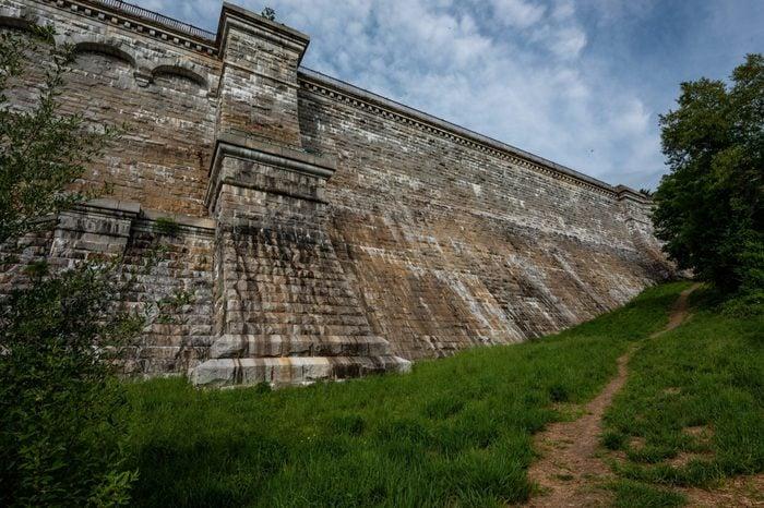 Croton Gorge Park and New Croton Dam, Croton-on-Hudson, New York, USA