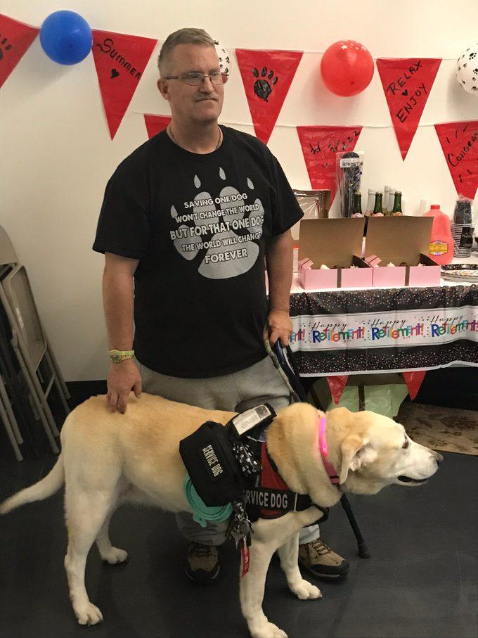 retirement party service dog
