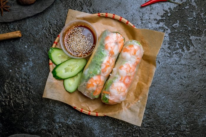 Fresh Spring Roll with shrimps, Vietnamese Food