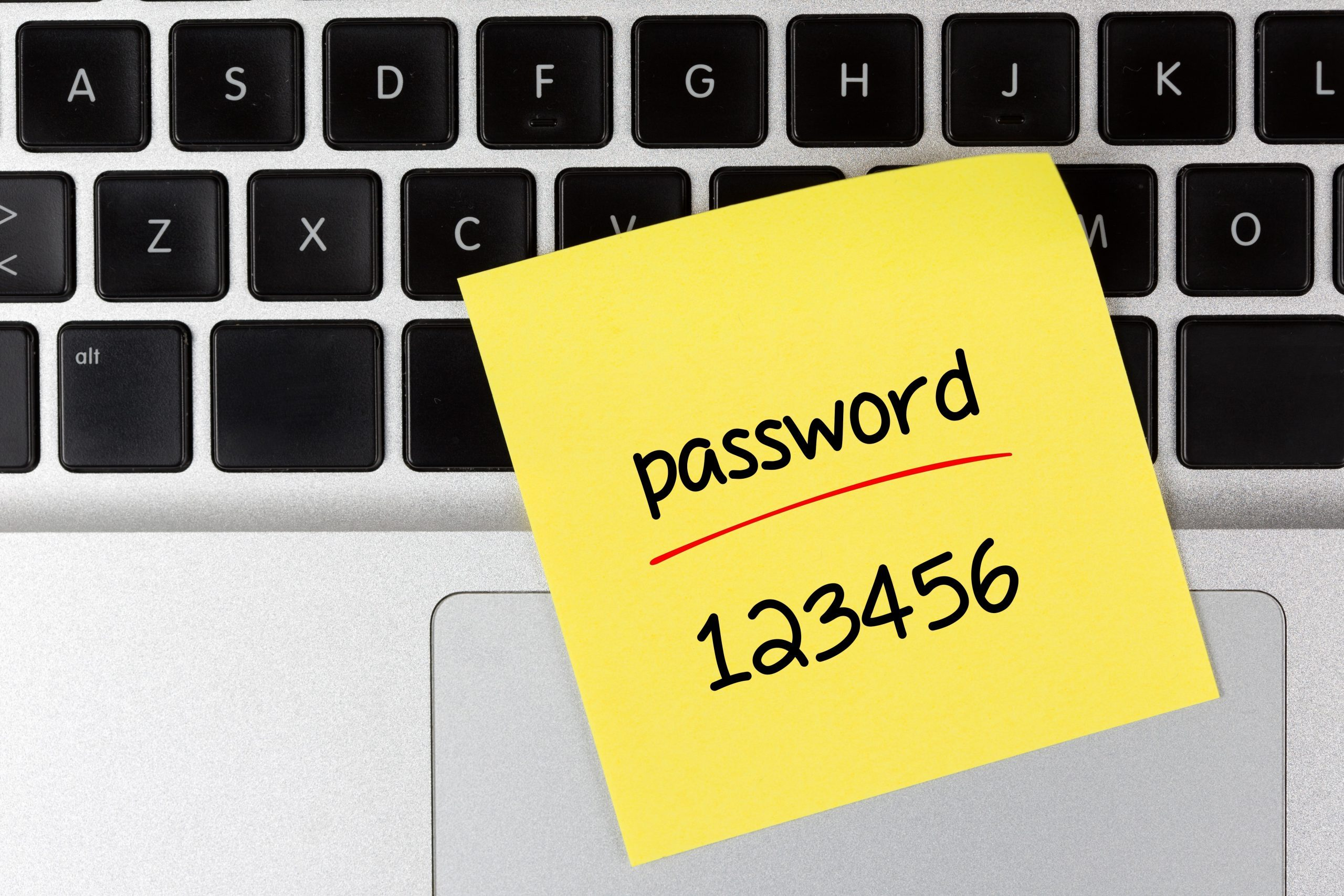 Easy Password Concept on Laptop