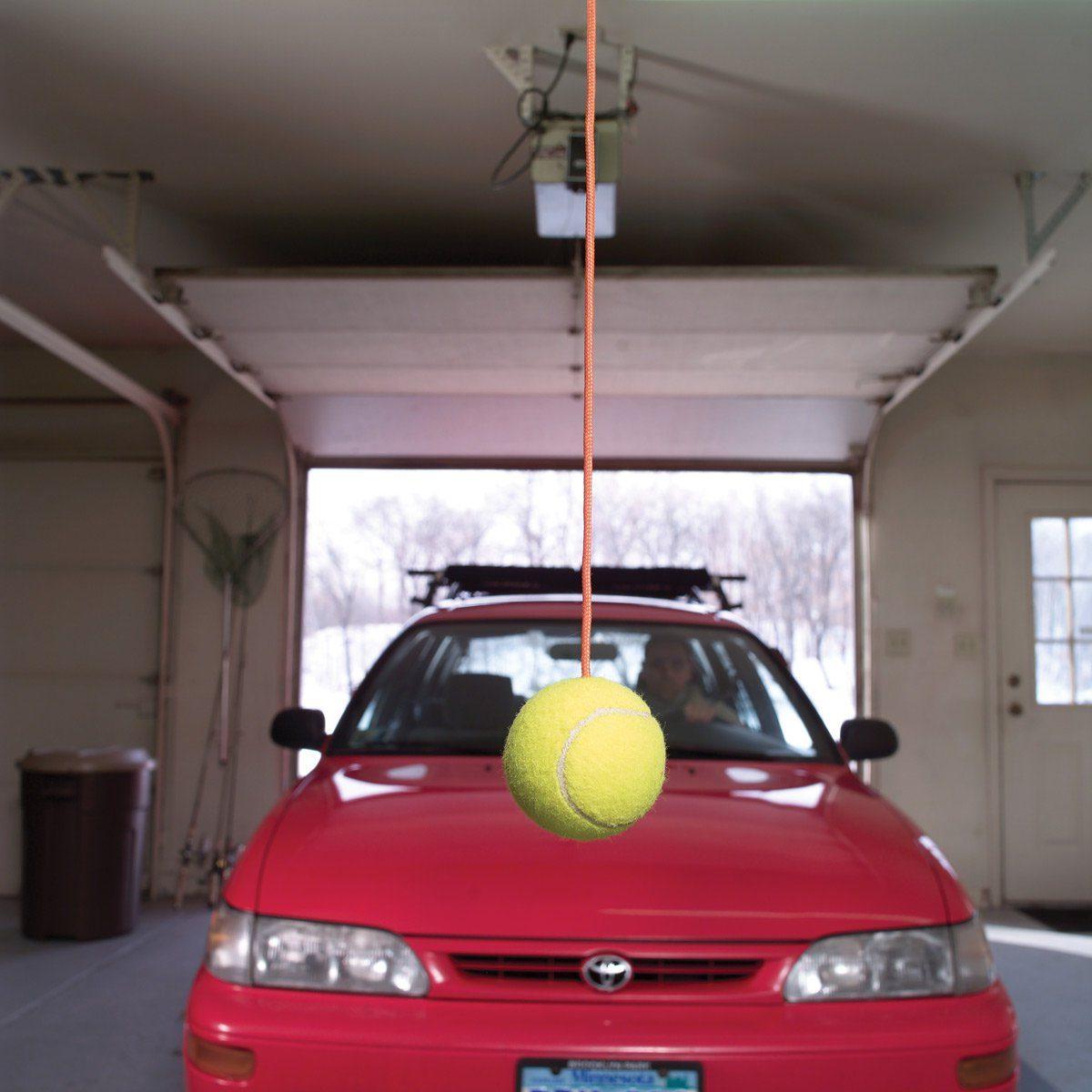 garage parking tennis ball