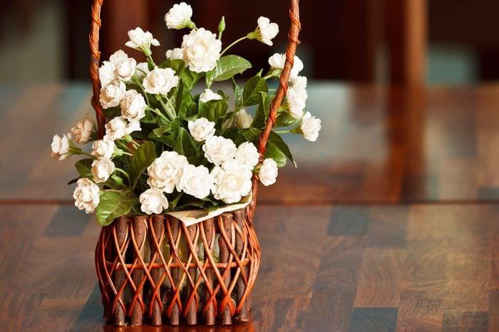 Fake jasmine on table