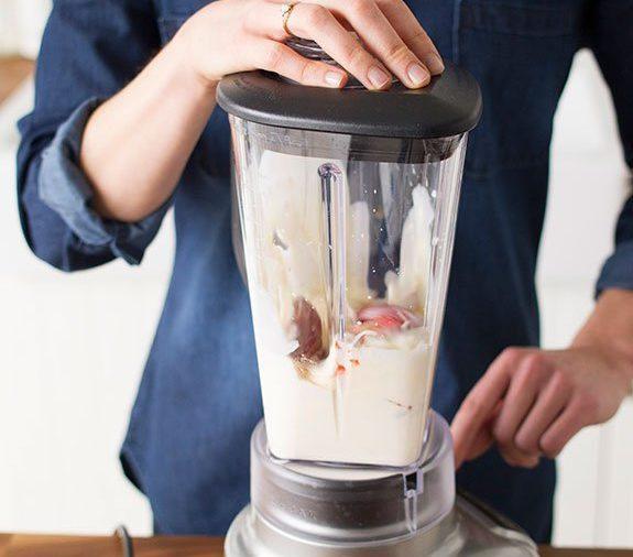 making a milkshake