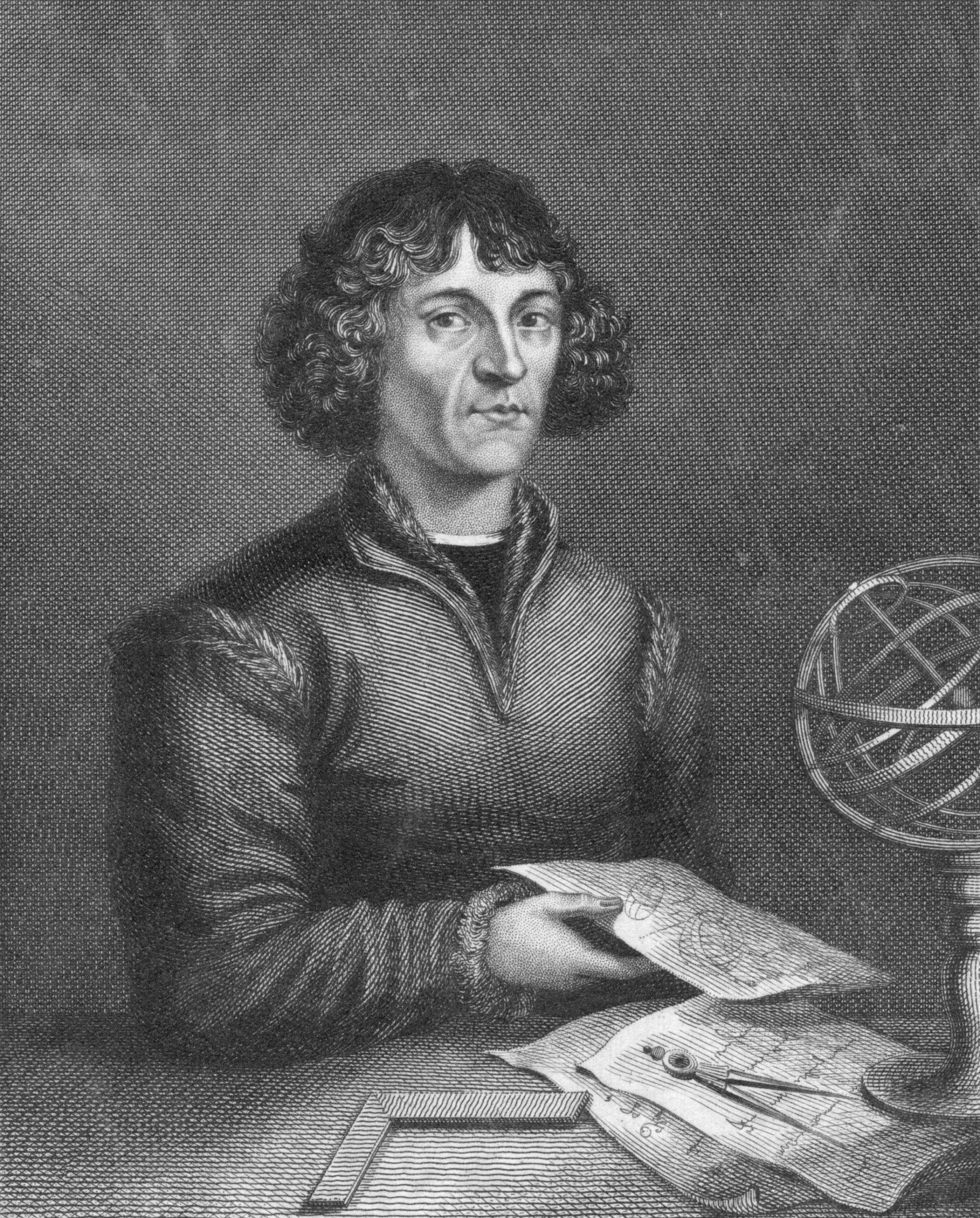 Circa 1515, Portrait of the Polish astronomer, Nicolaus Copernicus (1473 - 1543)