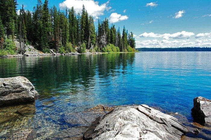 Gran Teton, beautiful landscape with the lake