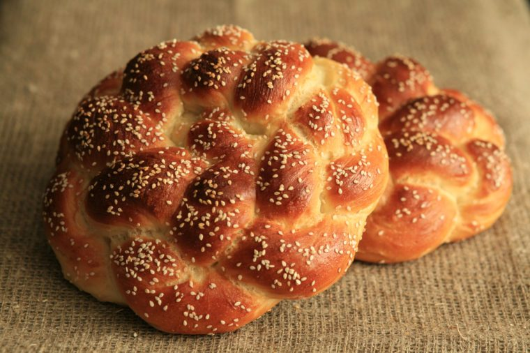 Homemade challah for Shabbat