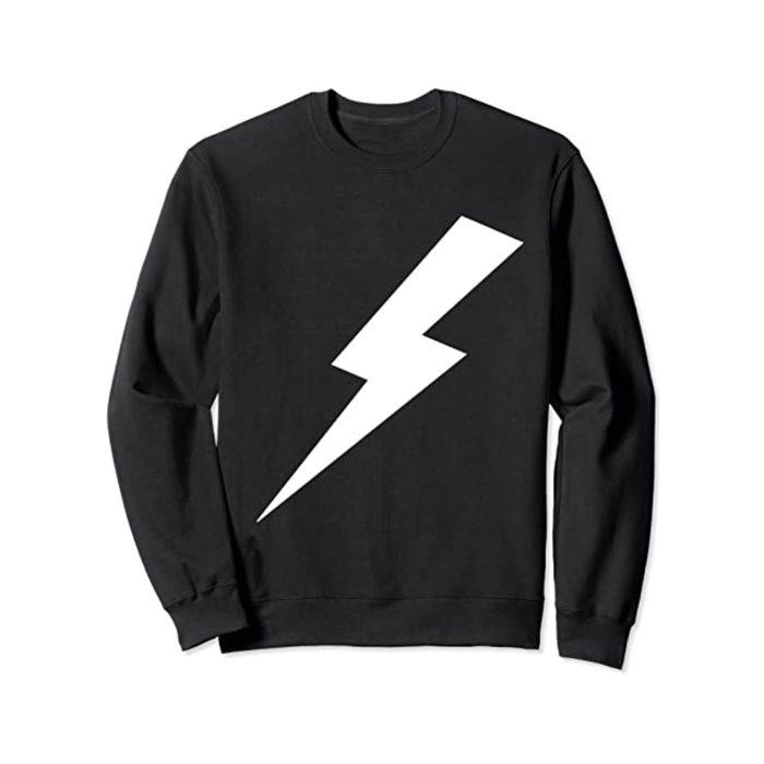 Black hoodie with lightning bolt