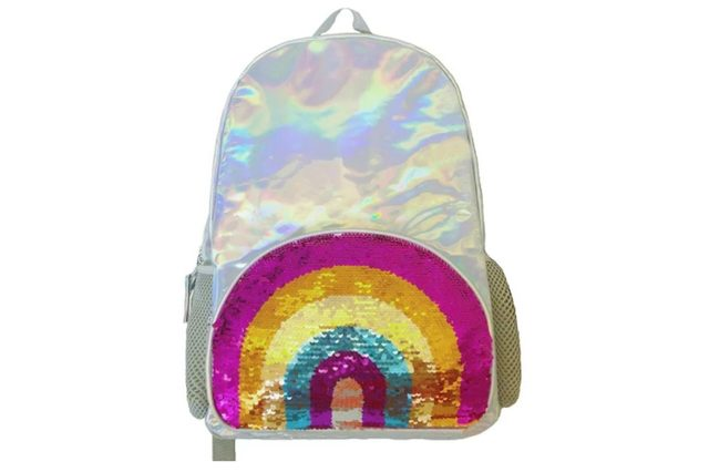 Irridescent-rainbow-sequined-backpack