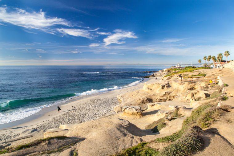 La Jolla cove beach, San Diego, California.